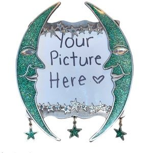 Decorative Picture Frame Glitter Moons & Stars